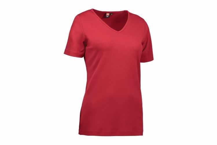 ID0506 Interlock dame T shirt  v hals