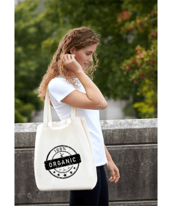 Neutral Twill bag med logo  - 090030